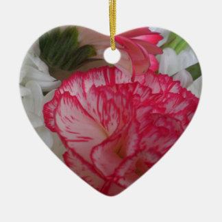 Flowers Theme Hand Bag Accessory Ceramic Heart Decoration