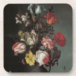 Flowers Vase Shells Insects, Balthasar van der Ast Coaster