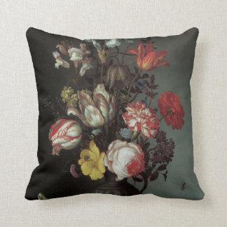Flowers Vase Shells Insects, Balthasar van der Ast Throw Pillows
