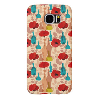 Flowers, vases and bottles pattern samsung galaxy s6 cases
