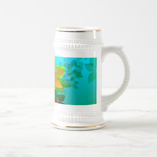 Flowers, Vines and Leaves Abstract Art Coffee Mug