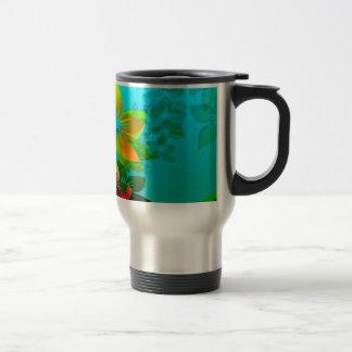 Flowers, Vines and Leaves Abstract Art Mug