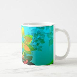 Flowers, Vines and Leaves Abstract Art Coffee Mug