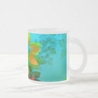 Flowers, Vines and Leaves Abstract Art Mug