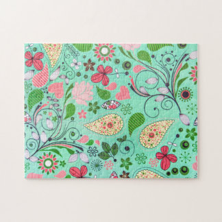 Flowers Vintage Pattern Texture Impossible Puzzle