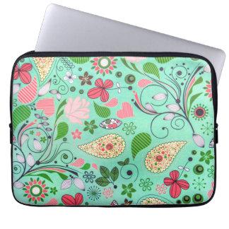 Flowers Vintage Texture Pattern Laptop Sleeve