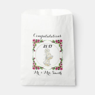 FLOWERS WEDDING  bag WHITE Favor