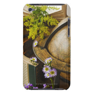 Flowers with antique globe and books Case-Mate iPod touch case