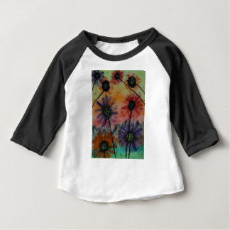 Flowers with birds baby T-Shirt