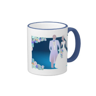 Flowers with Bride & Groom Mug