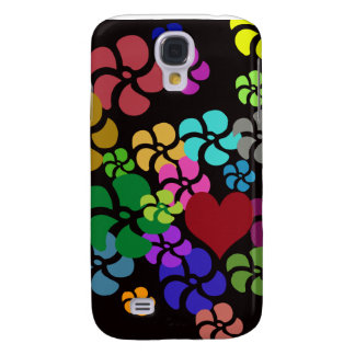 FLOWERS WITH HEART  GALAXY S4 CASES
