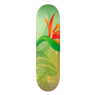 Flowers with soft background skateboard
