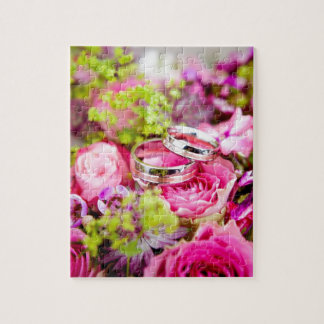 flowers with wedding rings jigsaw puzzle