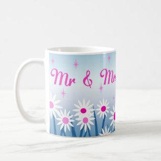 Flowertastic Mr and Mrs Coffee Mug