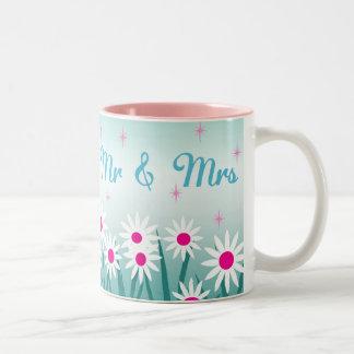 Flowertastic Mr and Mrs Two-Tone Coffee Mug