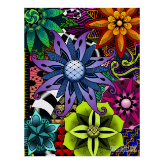 Flowertastic Poster