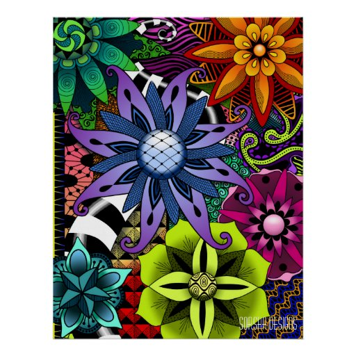 Flowertastic Poster