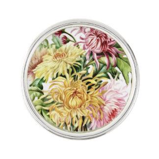 FLOWERY DESIGN LAPEL PIN