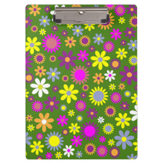 Flowery field pattern clipboard