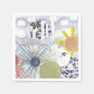 Flowery Fish World Napkins Paper Napkins