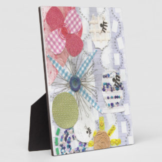 Flowery Fish World on a Easel Photo Plaques
