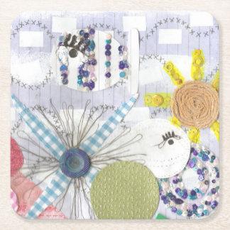 Flowery Fish World Paper Coaster