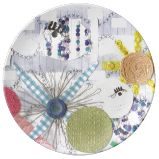 Flowery Fish World Porcelain Plate