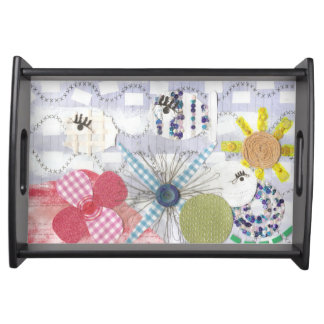 Flowery Fish World Serving Tray