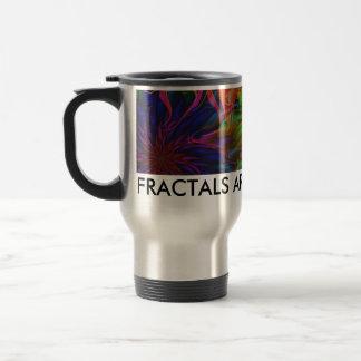 Flowery Fractal Travel Mug