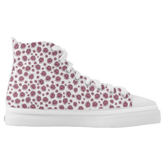 Flowery high top shoes