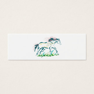 Flowery Horse bookmark Mini Business Card