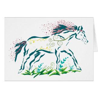 Flowery Horse card