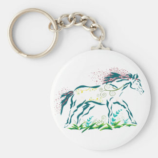 Flowery Horse keychain