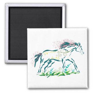 Flowery Horse magnet