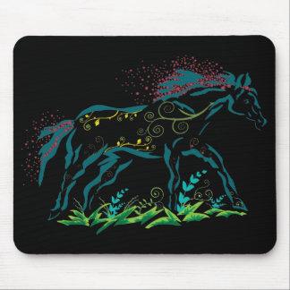 Flowery Horse mousepad