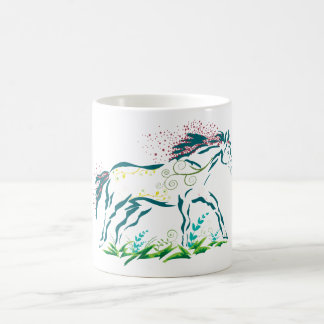 Flowery Horse mug