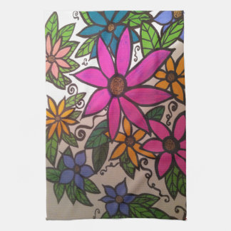 FLOWERY Kitchen Towel