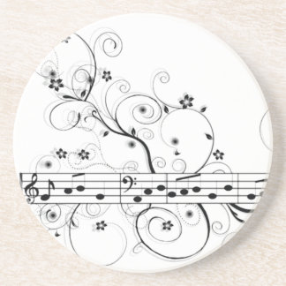 Flowery Music Coaster