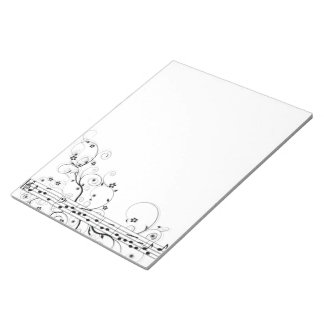 Flowery Music Notepad