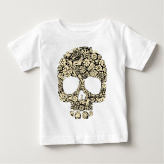 Flowery Ornate Skull Baby T-Shirt