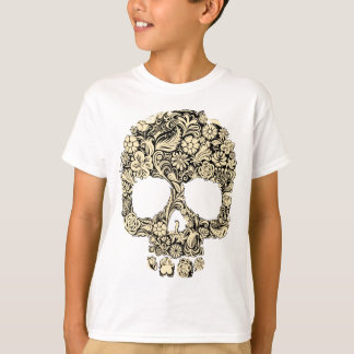 Flowery Ornate Skull T-Shirt