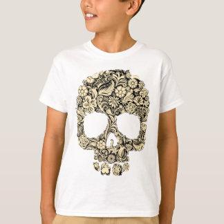 Flowery Ornate Skull T Shirt
