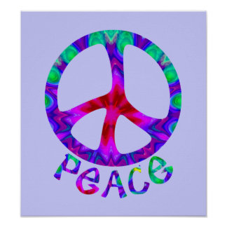 Flowery Peace Poster