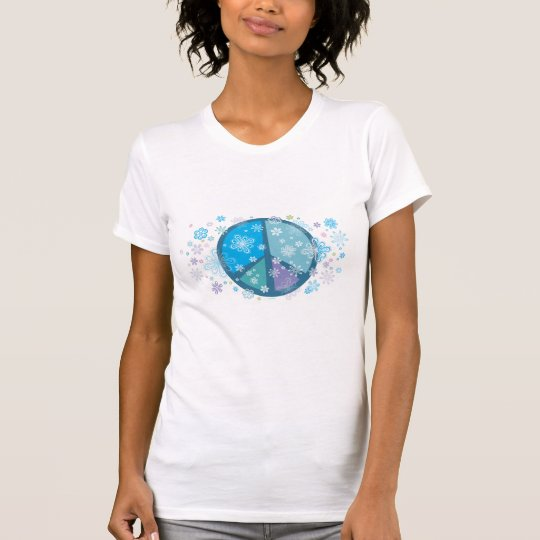 Flowery Peace sign T-shirt
