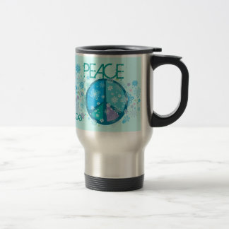 Flowery Peace Sign Travel Mug