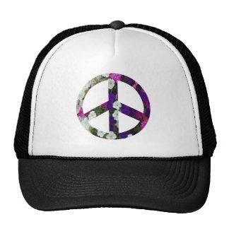flowery peace symbol hat
