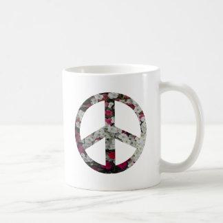 flowery peace symbol mug