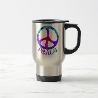 Flowery Peace Travel Mugs