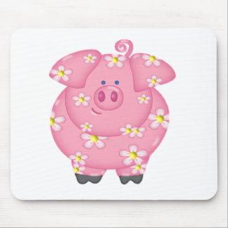 Flowery Piggie Mouse Mat