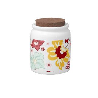 Flowery print - Flower pattern Candy Dish
